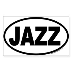 JAZZ Euro Oval Sticker (Rectangle)