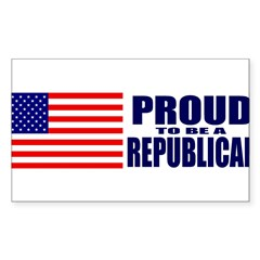 Proud to be a Republican Sticker (Rectangle)