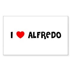 I LOVE ALFREDO Sticker (Rectangle)