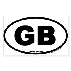 Great Britain GB Euro Oval Sticker (Rectangle)