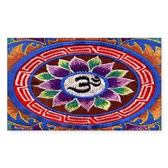 OM Tapestry Oval Sticker (Rectangle)