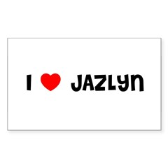 I LOVE JAZLYN Sticker (Rectangle)