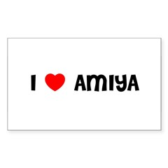 I LOVE AMIYA Sticker (Rectangle)