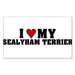 I Love My Sealyham Terrier Sticker (Rectangle)