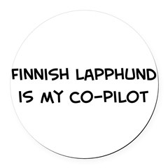 Co-pilot: Finnish Lapphund Round Car Magnet