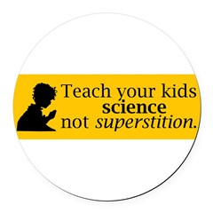 Teach your kids science Round Car Magnet