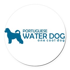 "P. Water Dog ""One Cool Dog"" Round Car Magnet"