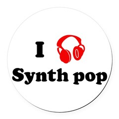 Synth pop music Round Car Magnet