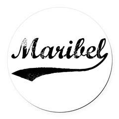 Vintage: Maribel Round Car Magnet