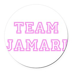 Pink team Jamari Round Car Magnet