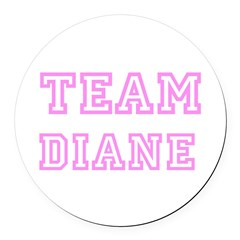 Pink team Diane Round Car Magnet