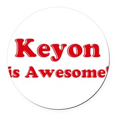 Keyon is Awesome Round Car Magnet