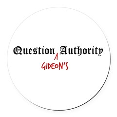 Question Gideon Authority Round Car Magnet