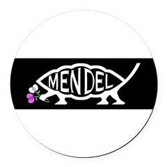 Mendel Fish Round Car Magnet