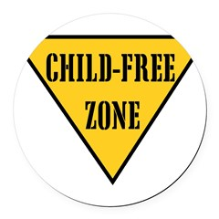 Child-Free Zone Round Car Magnet