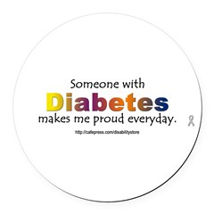 Diabetes Pride Round Car Magnet