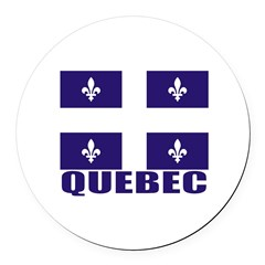 Quebec Round Car Magnet