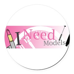 I Need Models Round Car Magnet