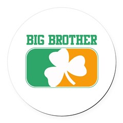 BIG BROTHER (Irish) Round Car Magnet