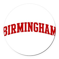 BIRMINGHAM (red) Round Car Magnet