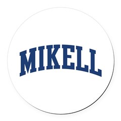 MIKELL design (blue) Round Car Magnet