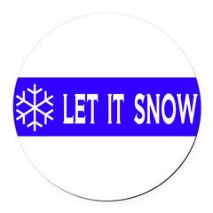 Think Snow Round Car Magnet