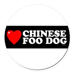 CHINESE FOO DOG Round Car Magnet