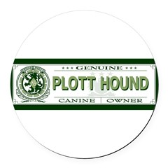 PLOTT HOUND Round Car Magnet