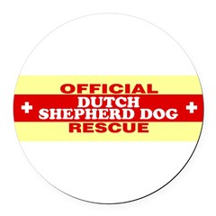 DUTCH SHEPHERD DOG Round Car Magnet
