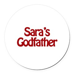 Sara's Godfather Round Car Magnet