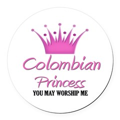 Colombian Princess Round Car Magnet