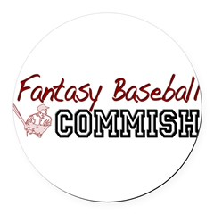 Fantasy Baseball Commish Round Car Magnet
