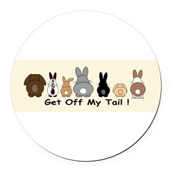 Get Off My Tail Round Car Magnet
