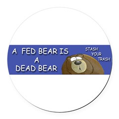 BEAR Round Car Magnet