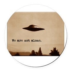 X-Files - We Are Not Alone Round Car Magnet