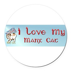 Manx Cats Round Car Magnet