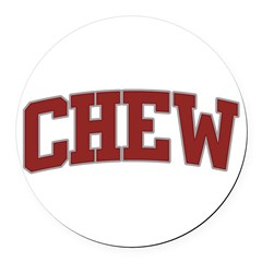 CHEW Design Round Car Magnet