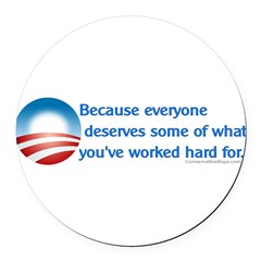 Anti-Obama Because Round Car Magnet