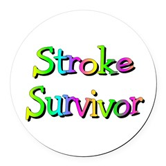 Stroke Survivor Round Car Magnet