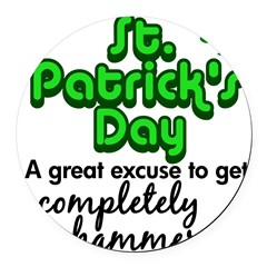 St. Patrick's Day Round Car Magnet