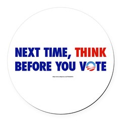 """Think 2012"" Round Car Magnet"