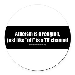 Atheism TV Round Car Magnet