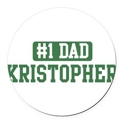 Number 1 Dad - Kristopher Round Car Magnet