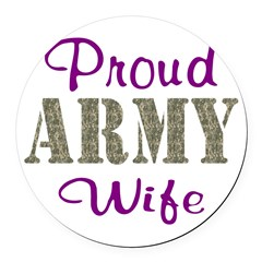 Army Purple Home/Office Round Car Magnet