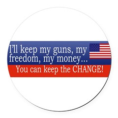 Keep the Change Round Car Magnet