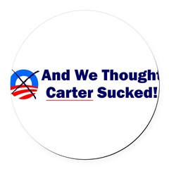 Anti-Obama Round Car Magnet