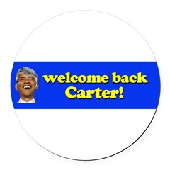 Welcome Back Carter Round Car Magnet