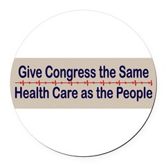 Give Congress Healthcare Round Car Magnet