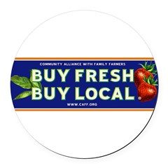 Buy Fresh Buy Local classic Round Car Magnet