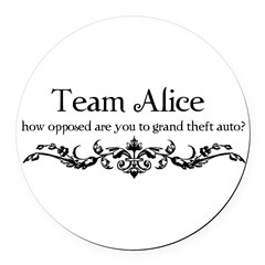 Team Alice Theft Round Car Magnet